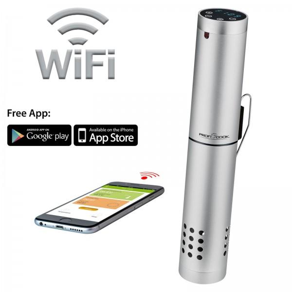 PROFICOOK Sous Vide Stick Alu App-Funktion WLAN 100 Watt SV 1159