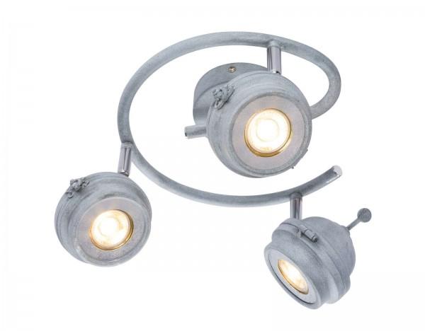 GLOBO MYCAH LED-Strahler Deckenstrahler rund antik grau 57301-3