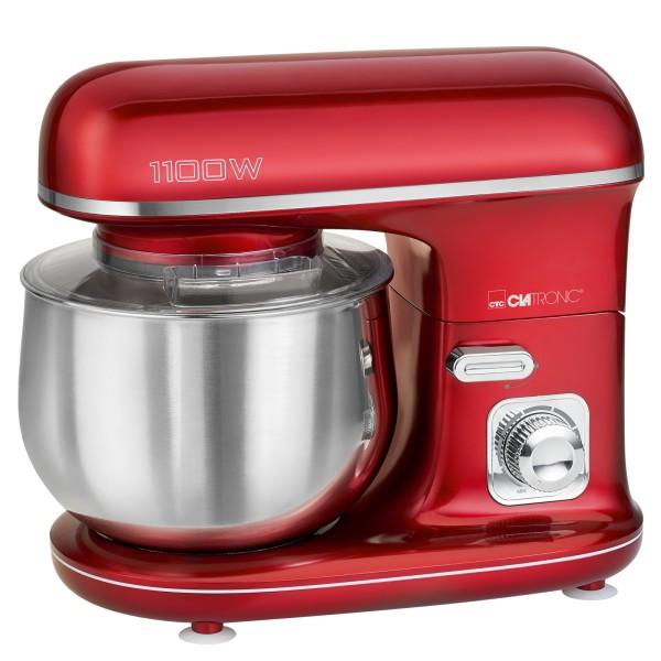CLATRONIC Knetmaschine Rührmaschine Küchenmaschine 1100W KM 3712 rot