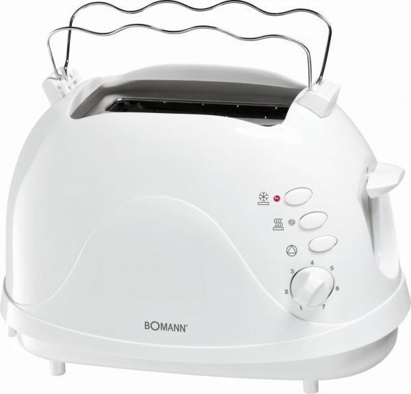 BOMANN 2-Scheiben-Toaster Toster 700 Watt Krümelschublade TA 246 weiß