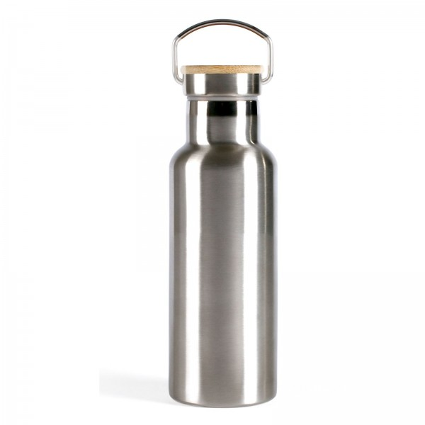 LIVOO Thermosflasche Isolierflasche Edelstahl Bambus 500 ml MEN384M
