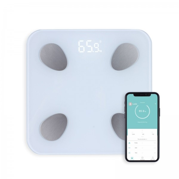 LIVOO Körperanalysewaage Körperwaage Bluetooth-Funktion DOM428