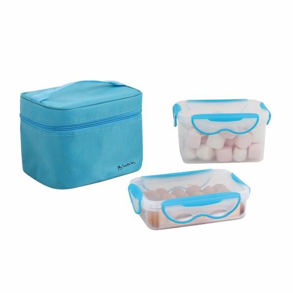 BeNomad Lunchbox 2 luftdichte Behälter Transporttasche Blau SEP109B