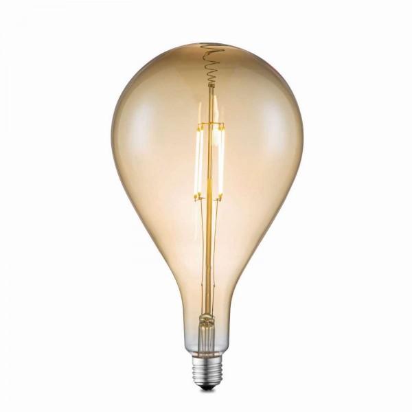 GLOBO LED-Leuchtmittel Glühbirne retro Glas amber 16 cm 11480