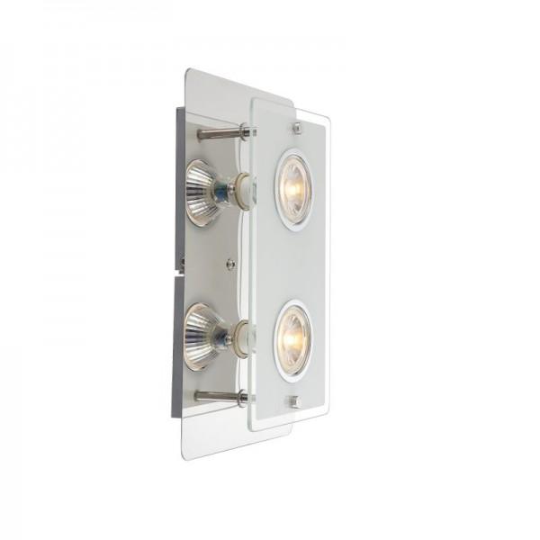 LION LED Wandleuchte Wandlampe Eckig Wand-Beleuchtung Glas 4841000-2