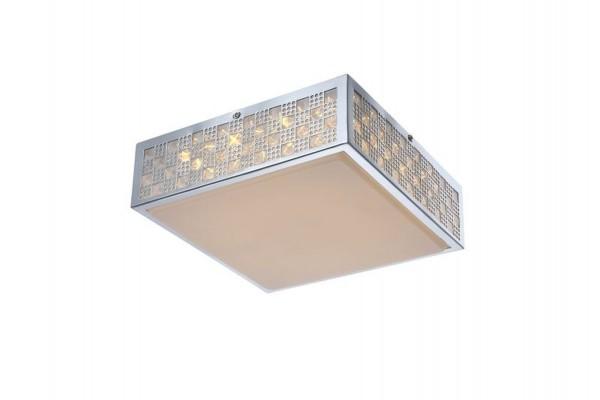 GLOBO LED Deckenlampe Deckenleuchte Lampe Leuchte Muster chrom 41614