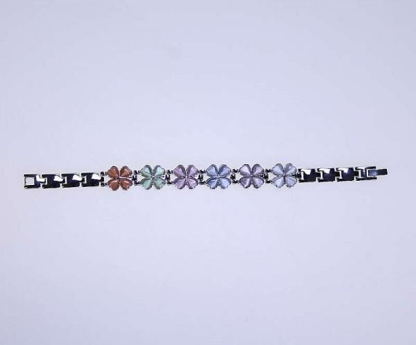 Wellys Magnet-Armband Glücksband Schmuck Kleeblatt bunt 19 cm R027405