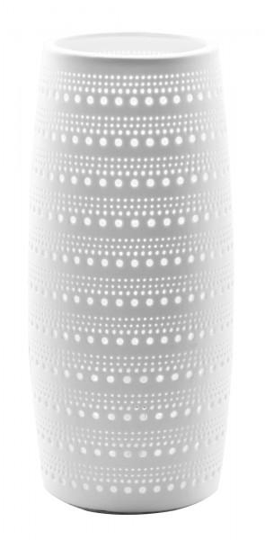 Nino Leuchten Tischlampe Tischleuchte Keramik weiß 51820107 26 cm