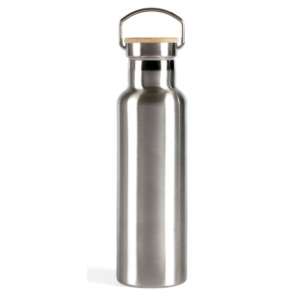 LIVOO Thermosflasche Isolierflasche Edelstahl Bambus 750 ml MEN384L