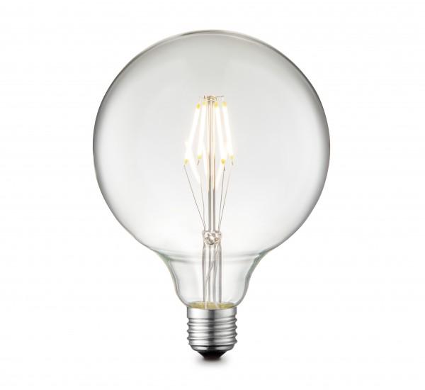 GLOBO LED-Leuchtmittel Glühbirne Glas bauchig 12,5 cm 11472 klar