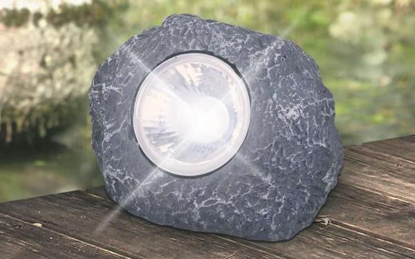Globo Solarleuchte Gartenleuchte Stein grau LED 33993-84