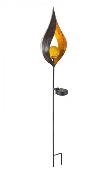 GLOBO LED Solarleuchte Solarlampe Kunstwerk Metall IP44 Garten Deko 33467 Bronze