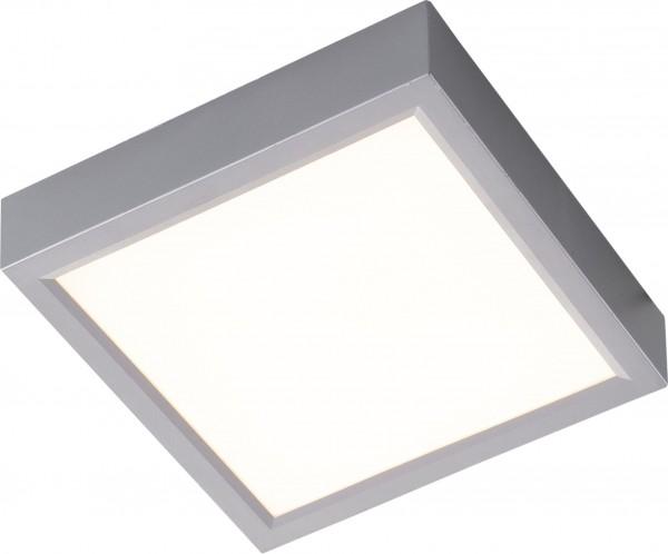 Nino Leuchten Deckenleuchte quadratisch LED 23 cm 61042344 silber