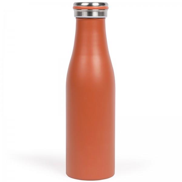 LIVOO Thermosflasche 0,5 Liter Edelstahl Isolierflasche MEN392T rot