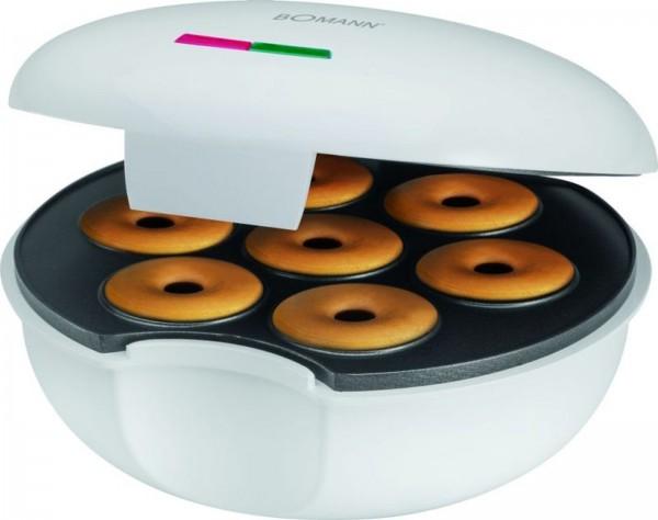 BOMANN Edelstahl Donutmaker Bagelmaker 900 Watt mit Backampel DM 5021