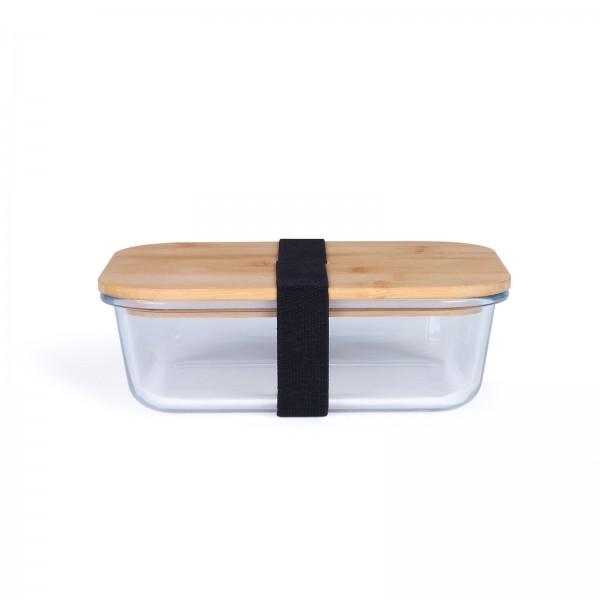 LIVOO Lunchbox Borosilikat Glas Bambusdeckel 1040 ml MEN385L