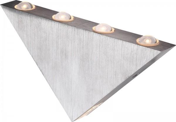 Globo Wandleuchte Wandlampe Dreieck Aluminium gebürstet 7602