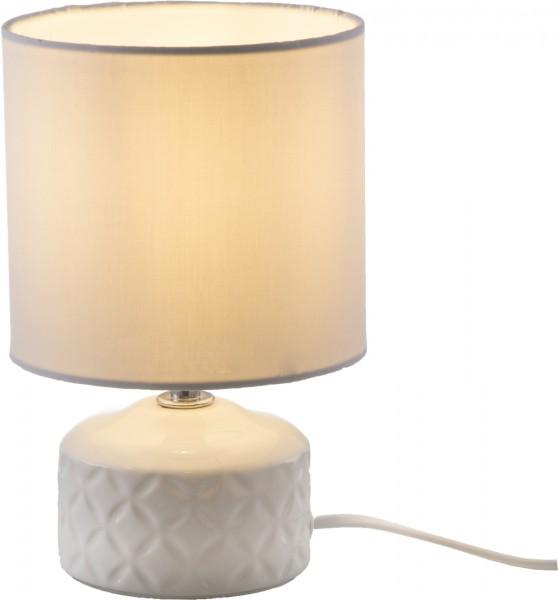 Nino Leuchten Tischleuchte E14 Tischlampe Keramik 52210107 weiß