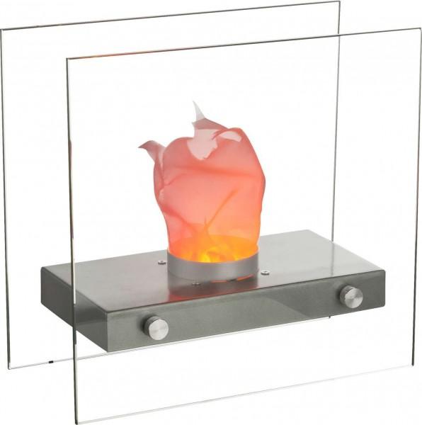 GLOBO FIRE Tischkamin Tischfeuer LED Glas Tischleuchte 93101