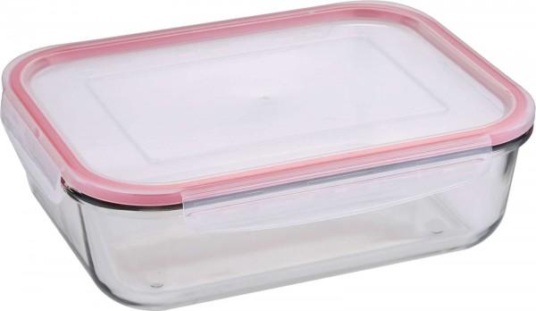 BERGNER Dose mit Deckel 850 ml Brotdose Lunchbox BG-5837-RD-6