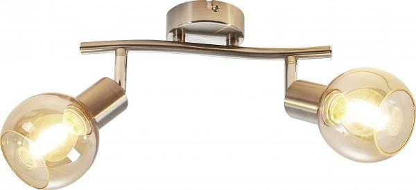 Nino Leuchten Deckenleuchte Deckenlampe 2-flammig Glas amber 81210223