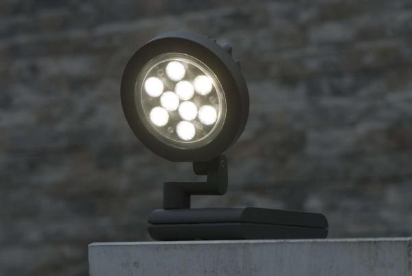 Lutec Nevada Wandlampe Aussenlampe Aussenleuchte LED Rund 6102 S-Gr