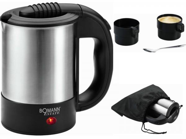 BOMANN Estate Wasserkocher Reisewasserkocher 0,5L WKR 1162