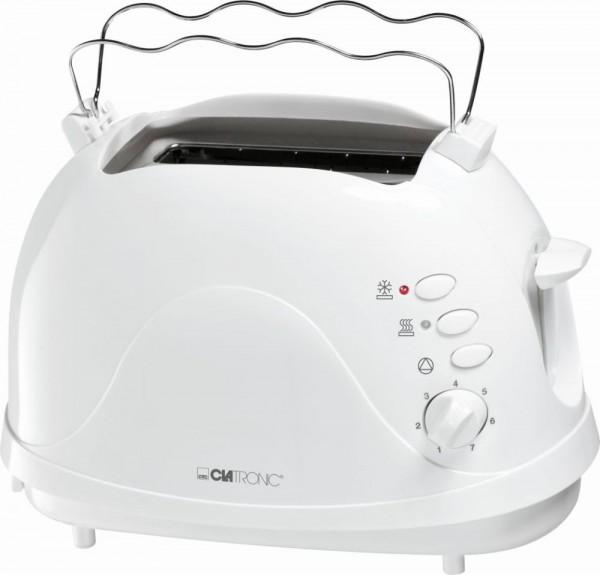 CLATRONIC 2-Scheiben-Toaster Toster 700 W Krümelschublade TA 3565 weiß