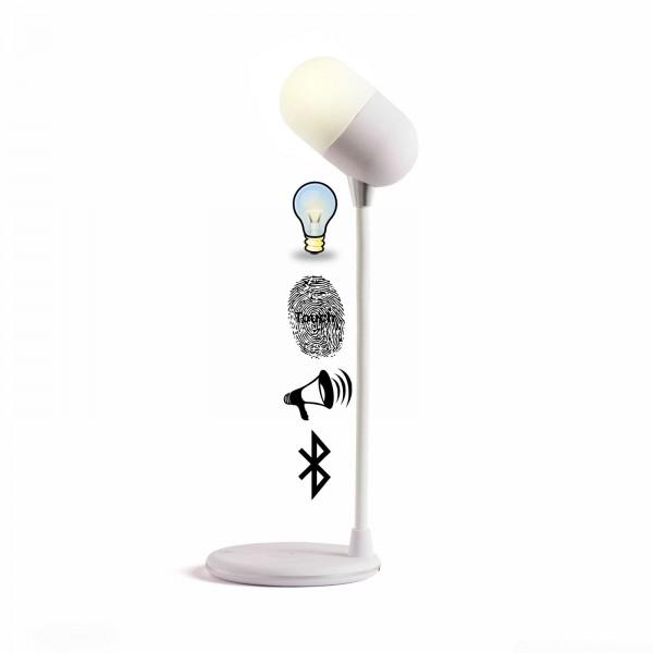 LIVOO 3-in-1 Leuchte kabellos Ladestation Bluetooth Induktion TEA240