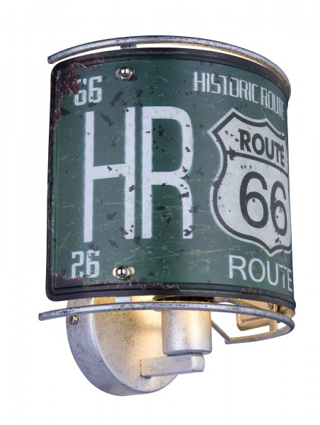 GLOBO Wandleuchte Wandlampe Route 66 Retro E14 Metall 15396W