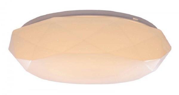 GLOBO WILMA Deckenleuchte rund mehreckig Acrylglas opal 39 cm 48386-18