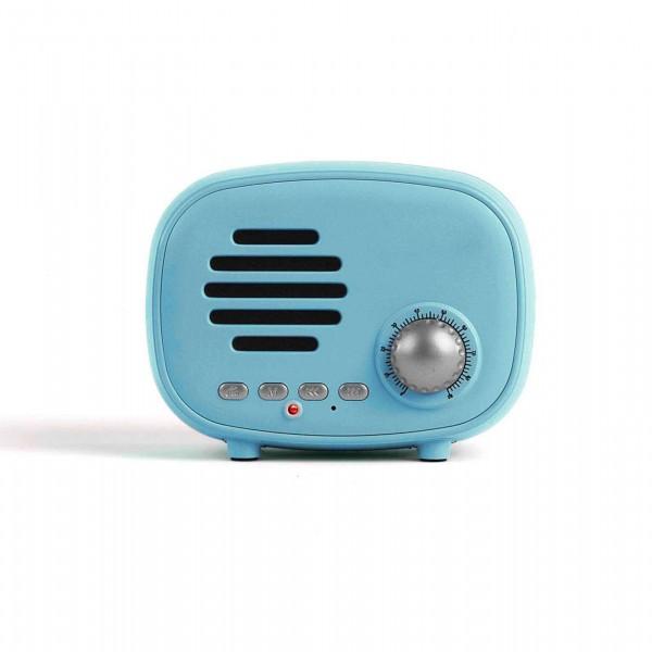 LIVOO Lautsprecher Bluetooth FM-Radio Mini-Retro TES202B blau