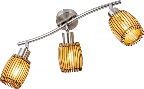 Nino Leuchten Deckenleuchte Deckenlampe 3-flammig Eiche hell 81040346