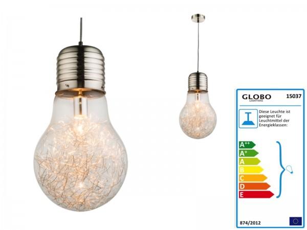 GLOBO LEVIN Hängeleuchte Glühlampe Design Industrie 15037