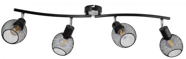 Nino Leuchten Deckenleuchte schwarz 4-flammig Drahtgeflecht 81020408