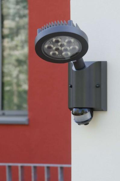 Lutec Nevada Wandlampe Aussenlampe Aussenleuchte LED 6102 S-Pir-Gr