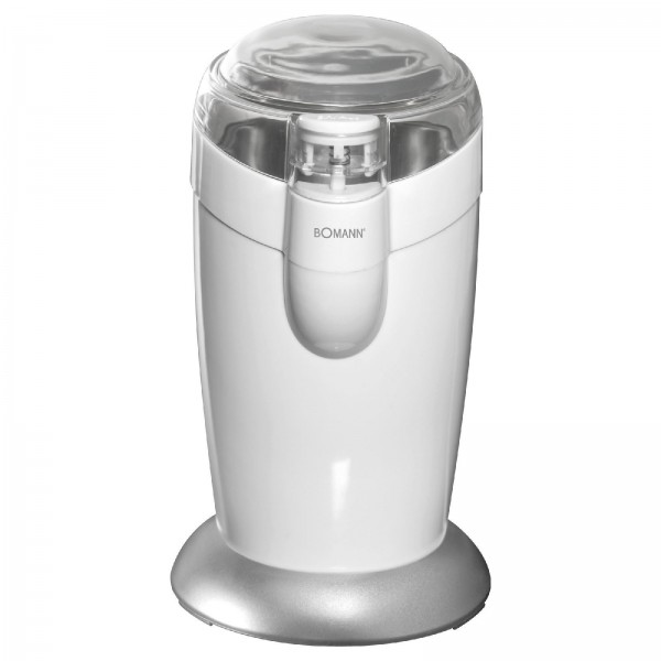 BOMANN Kaffeemühle Schlagwerk Edelstahl Messer 120 Watt KSW 446 weiß