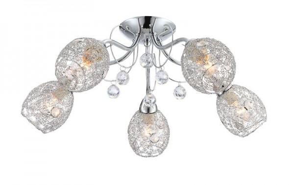 GLOBO Deckenleuchte Deckenlampe Lampe Beleuchtung Kristalle 56689-5