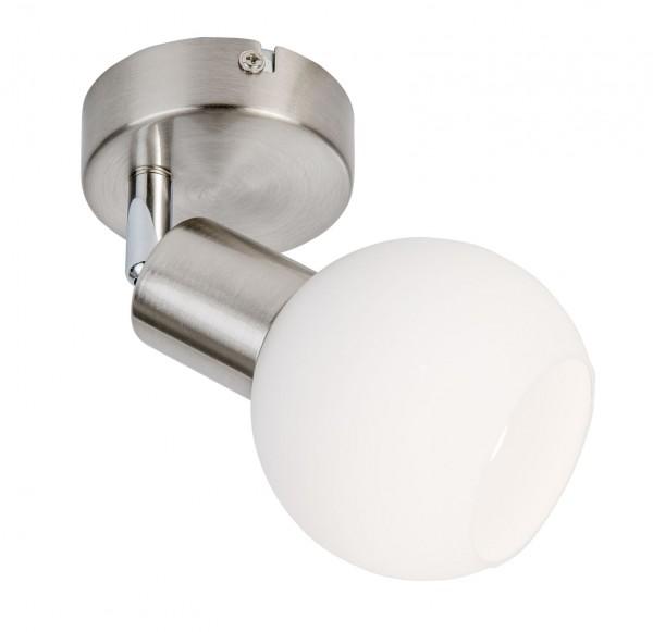 Nino Leuchten LED-Deckenleuchte E14 Nickel matt Opalglas 87160101