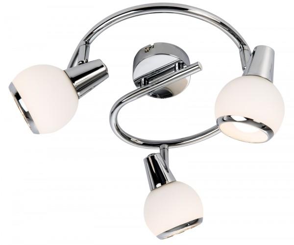 Nino Leuchten LED-Deckenleuchte Opalglas 3-flammig Spirale 81239306