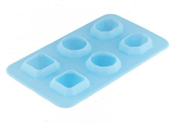 BERGNER Eiswürfelform Eiswürfelbereiter 6 Eiswürfel-Diamanten BG-4784