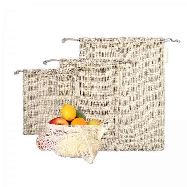 LIVOO Netztaschen für Obst und Gemüse Einkaufsnetze Obstnetze SEP129