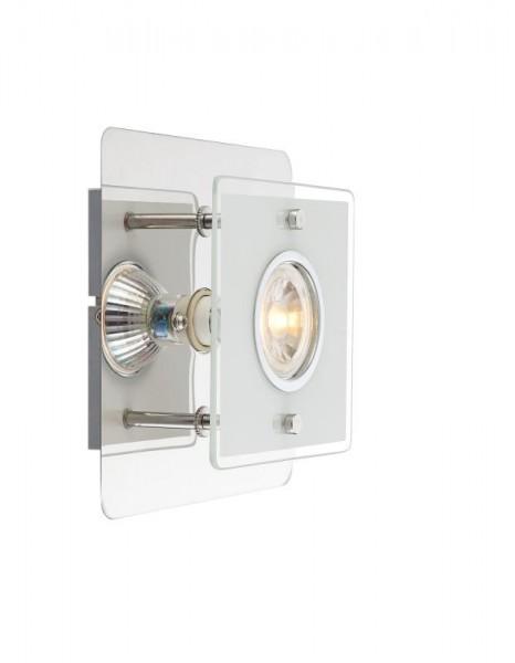 LION LED Wandleuchte Wandlampe Eckig Wand-Beleuchtung Glas 4841000-1