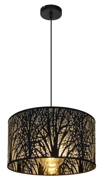 GLOBO Hängeleuchte Hängelampe schwarz Baumdekor E27 Design 15386H