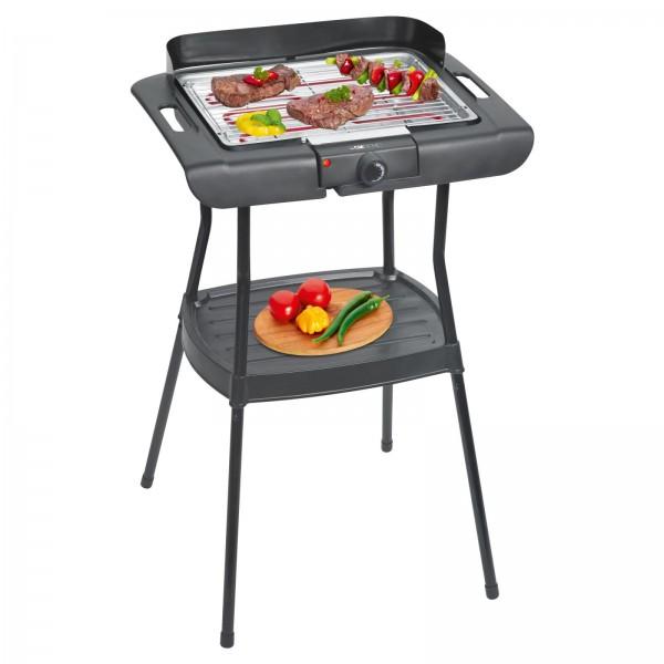 CLATRONIC Standgrill Elektro Tischgrill Barbecue-Grill 2000 W BQS 3508